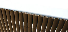 Gard opac - protectie vizuala din PVC 200 x 300 cm maro