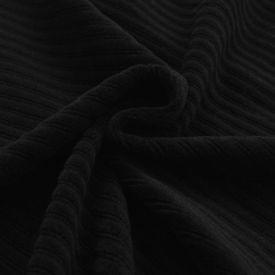 Husă elastică pentru canapea, striată, negru