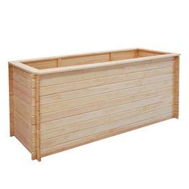 Jardinieră de grădină, lemn de pin 19 mm, 200x50x80 cm