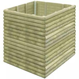 Jardinieră pentru grădină din lemn de pin tratat 106x106x48 cm