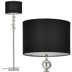 Lampa de podea eleganta - Spheridern 1 x E 27 - 60W - crom /negru