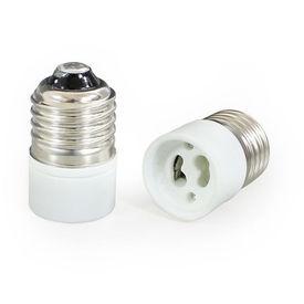 [lux.pro]® 10 x Adaptor schimbare- din E27 in GU10 - ceramica rezistenta la caldura