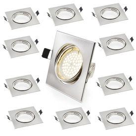[lux.pro]® 10 x Lampa SPOT incorporabila - carcasa otel - patrata