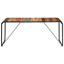 Masă de bucătărie, 180 x 90 x 76 cm, lemn masiv reciclat