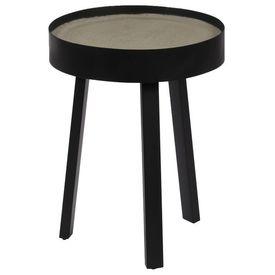Masă de cafea, blat de beton, 40 x 55 cm