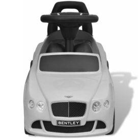 Mașină pentru copii fără pedale Bentley Alb