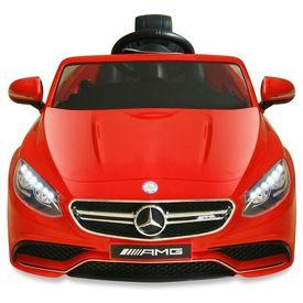 Mașinuță electrică Mercedes Benz AMG S63, roșu, 12 V