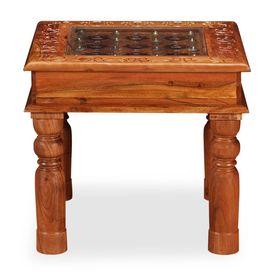 Măsuță de cafea, 45 x 45 x 40 cm, lemn masiv de acacia
