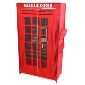 """[neu.holz]® Dulap haine - dulap depozitare textile """"London Cabina telefonica """""""
