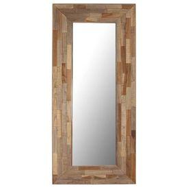 Oglindă, 50 x 110 cm, lemn de tec reciclat