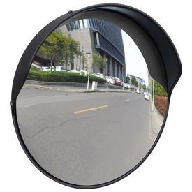Oglindă rutieră plastic PC convexă de exterior 30 cm negru