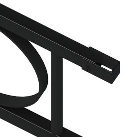 Panou gard, negru, 1,96x1,5 m, oțel