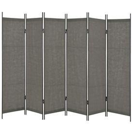 Paravan de cameră cu 6 panouri, antracit, 300 x 180 cm
