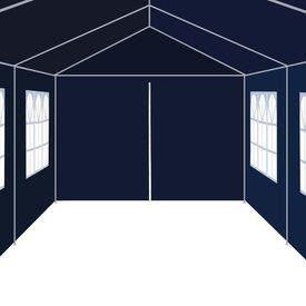 Pavilion de grădină 3 x 12 m, albastru