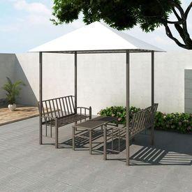 Pavilion de grădină cu masă și bănci 2,5x1,5x2,4 m