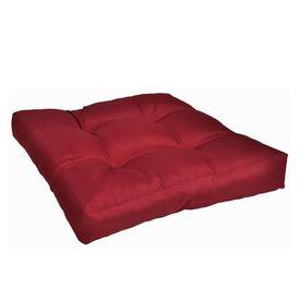 Pernă șezut tapițată, Roșu carmin