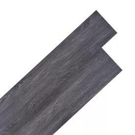 Plăci de pardoseală, PVC, 5,26 m², negru și alb