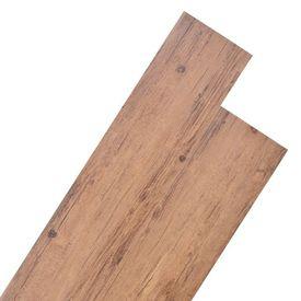 Plăci de pardoseală, PVC, 5,26 m², nuc maro