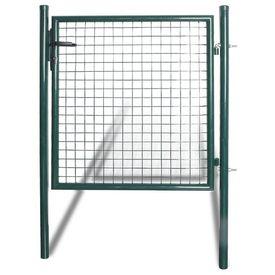 Poartă gard simplă din oțel acoperit cu pulbere