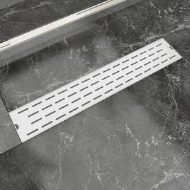 Rigolă duș liniară, model linie, oțel inoxidabil, 630 x 140 mm