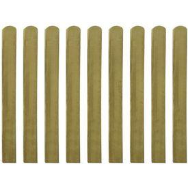 Scândură de gard din lemn tratat 100 cm, 10 buc.