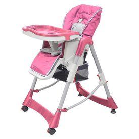 Scaun de masă pentru bebeluși Roz