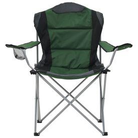 Scaune de camping pliabile, 2 buc., verde, 96 x 60 x 102 cm