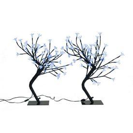 Set 2 instalații cu LED cireș Albastru