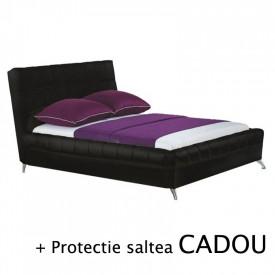 Set pat HM Bonita negru plus saltea Neptun Memory Pocket Comfort 160x200