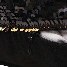 Set perne cu paiete, 2 buc., 60 x 60 cm, negru și auriu