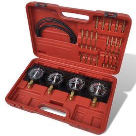 Set unelte pentru sincronizare carburator, cu manometre cu placă fixă