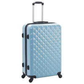 Set valiză carcasă rigidă, 3 buc., albastru, ABS