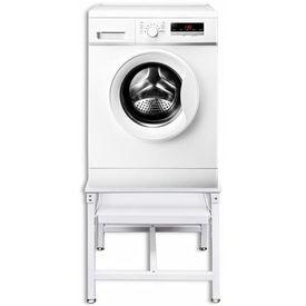 Stativ cu raft culisant pentru mașina de spălat, alb