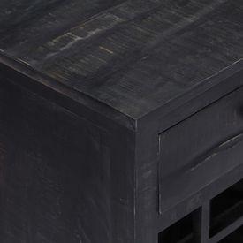 Suport sticle de vin, negru, 56x35x75 cm, lemn masiv de mango