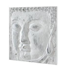 Tablou pictat manual - Buda - Model 10 - panza in, cu rama ascunsa - 60x60x3,8cm