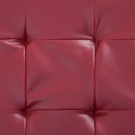 Taburet de depozitare, roșu vin, 87,5 cm, piele ecologică