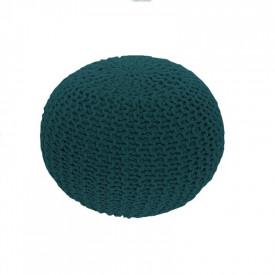 Taburet tricotat bumbac petrol GL GOBI TIPUL 2