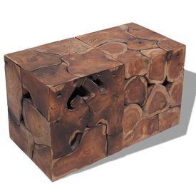 Taburete/măsuță de cafea din lemn de tec masiv