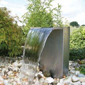 Ubbink Set cascadă grădină Venezia din oțel inoxidabil cu LED
