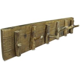 vidaXL Cuier haine, lemn masiv reciclat, 60 x 15 cm
