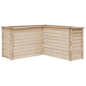 vidaXL Jardinieră de grădină, 150x150x80 cm, lemn masiv de pin, FSC