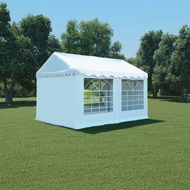 vidaXL Pavilion grădină, alb, 3 x 4 m, PVC