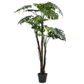 vidaXL Plantă artificială Monstera cu ghiveci, 130 cm, verde