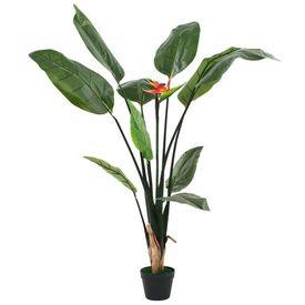 vidaXL Plantă artificială Strelitzia Reginae Pasărea paradisului 155 cm