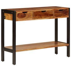 vidaXL Servantă cu 3 sertare, 110x35x75 cm, lemn masiv de sheesham
