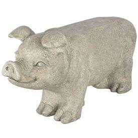 Esschert Design Bancă pentru grădină în formă de porcușor gri