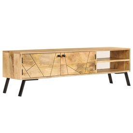 Comodă TV, lemn masiv de mango, 140 x 30 x 40 cm