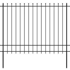 Gard de protecție ornamental cu vârf ascuțit, oțel, 600x175 cm
