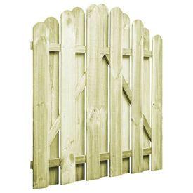 vidaXL Poartă de grădină, lemn de pin impregnat, 100 x 100 cm, arcuit