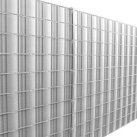 [neu.holz]® Gard folie opac protectie vizuala argintiu